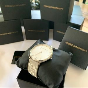 NWT Rebecca Minkoff embroidered leather watch